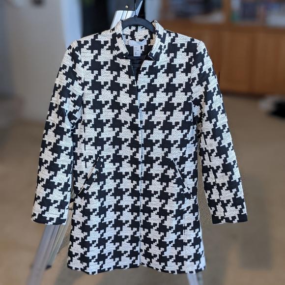 H&M Tweed Long Blazer Jacket - Size 6